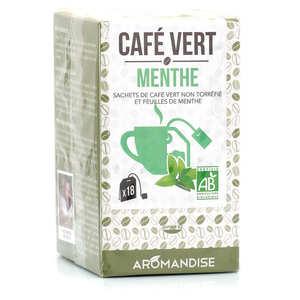 Aromandise - Café vert à la menthe bio en sachet à infuser