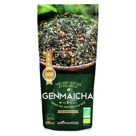 Aromandise - Thé vert et riz Genmaicha bio