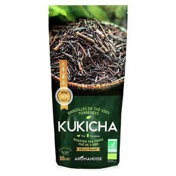 Aromandise - Thé vert de brindilles torréfiées Kukicha bio