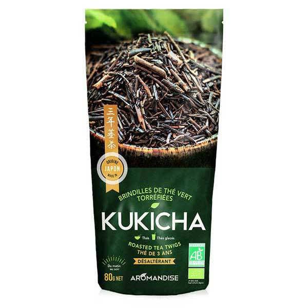 Thé vert de brindilles torréfiées Kukicha bio