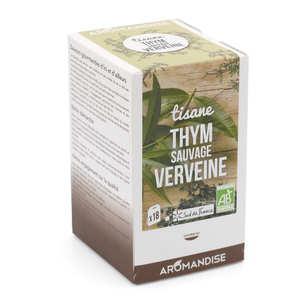 Aromandise - Tisane thym sauvage et verveine bio