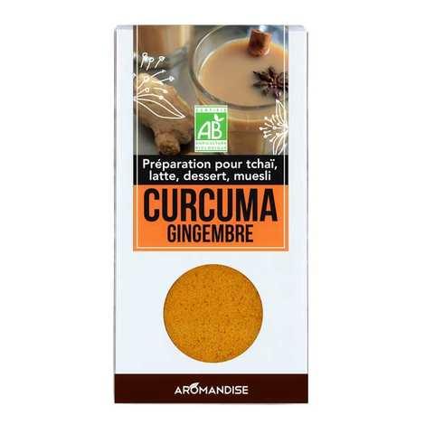 Aromandise - Curcuma latte au gingembre bio