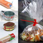 Decorfood - Liens alimentaires en silicone (par lot de 5)