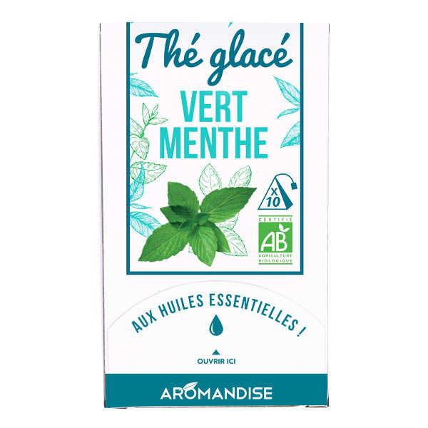 Thé vert glacé à la menthe bio