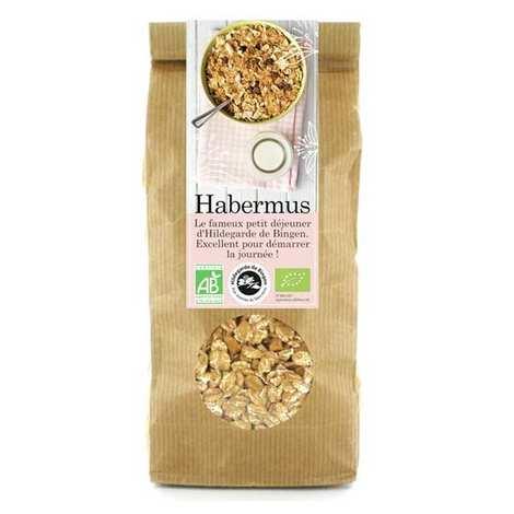 Aromandise - Habermus - muesli bio épeautre pomme cannelle Hildegarde de Bingen