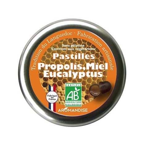 Aromandise - Pastilles bio propolis, miel et eucalyptus