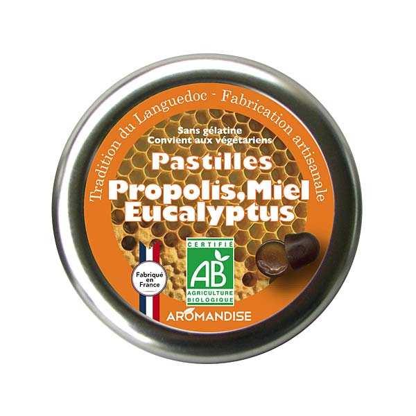 Pastilles bio propolis, miel et eucalyptus
