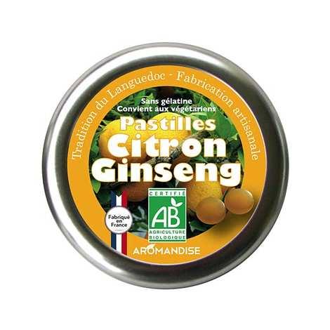 Aromandise - Pastilles bio citron et ginseng