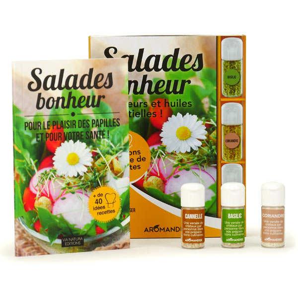 Coffret de préparation de salades bonheur aux fleurs et huiles essentielles