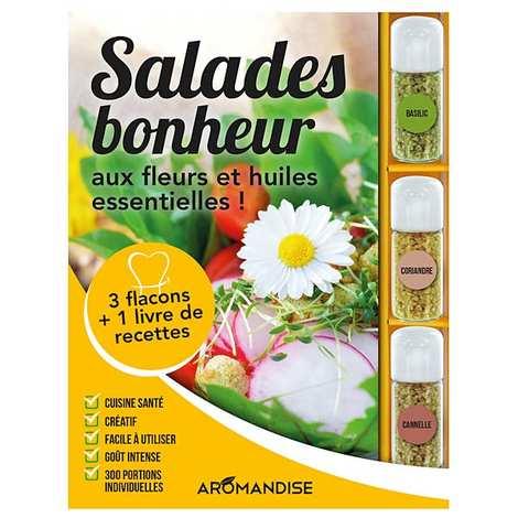 Aromandise - Coffret de préparation de salades bonheur aux fleurs et huiles essentielles