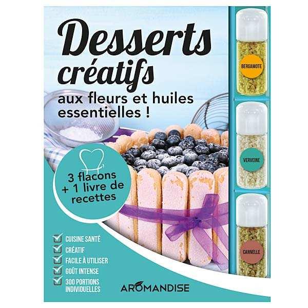 Coffret de préparation de desserts créatifs aux fleurs et huiles essentielles