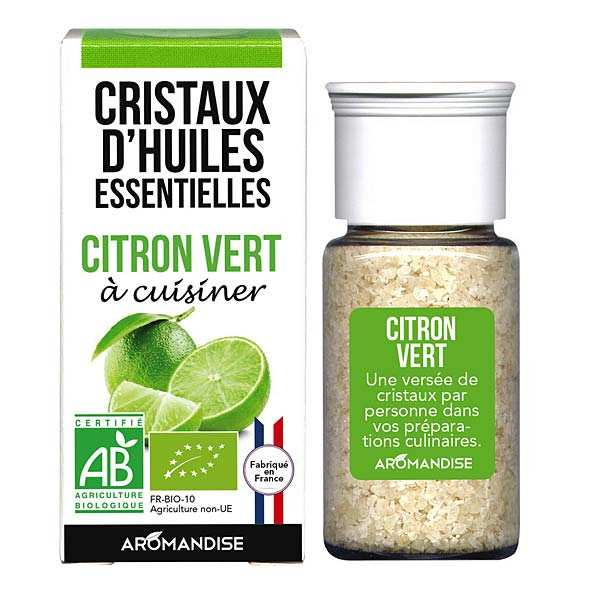Citron vert - Cristaux d'huiles essentielles à cuisiner - Bio
