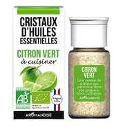 Aromandise - Citron vert - Cristaux d'huiles essentielles à cuisiner - Bio