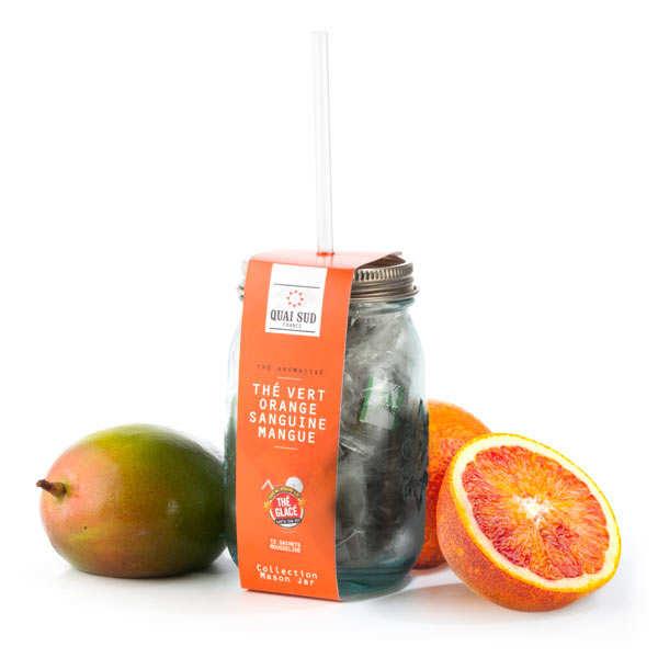 Thé vert glacé orange sanguine et mangue