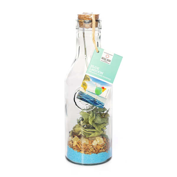 Mélange blue lagon pour cocktail en carafe - orange, ananas - carafe pour 70cl de cocktail