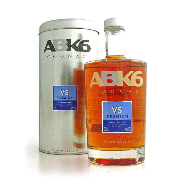 Cognac ABK6 VS Premium en étui métal - La bouteille de 50cl et son étui métal
