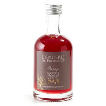Epicerie de Provence - Peach Syrup With Glitter