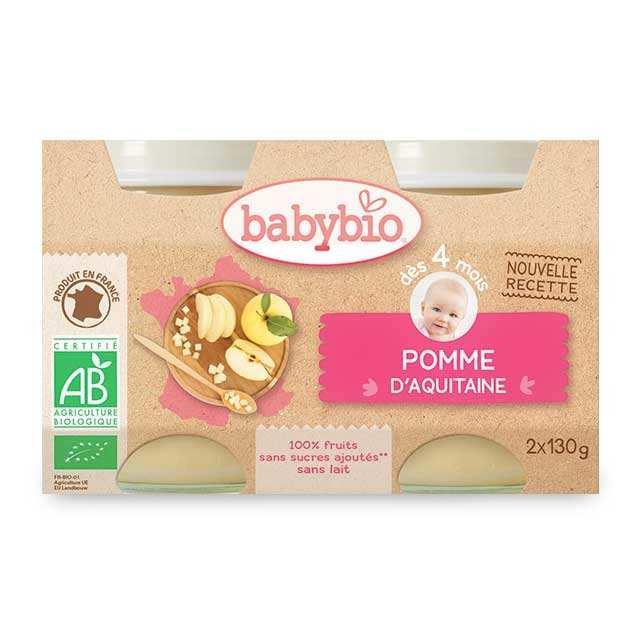 Organic Baby food jar Apple 4 months