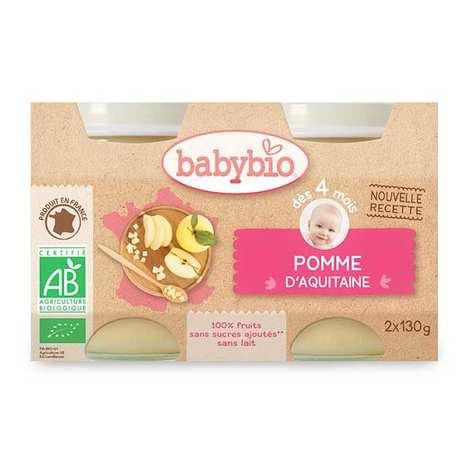 Baby Bio - Petits pots bio pomme d'Aquitaine dès 4 mois