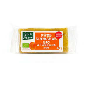 Jean Hervé - Pâte d'amande aux abricots secs - bio