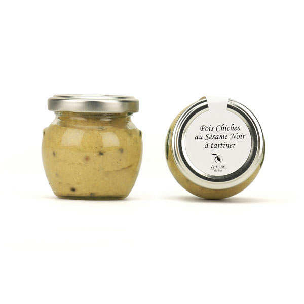 Chickpeas And Black Sesame Cream To Spread