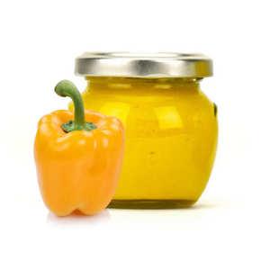 Artisan du fruit - Crème de poivrons jaunes confits au curcuma et au curry