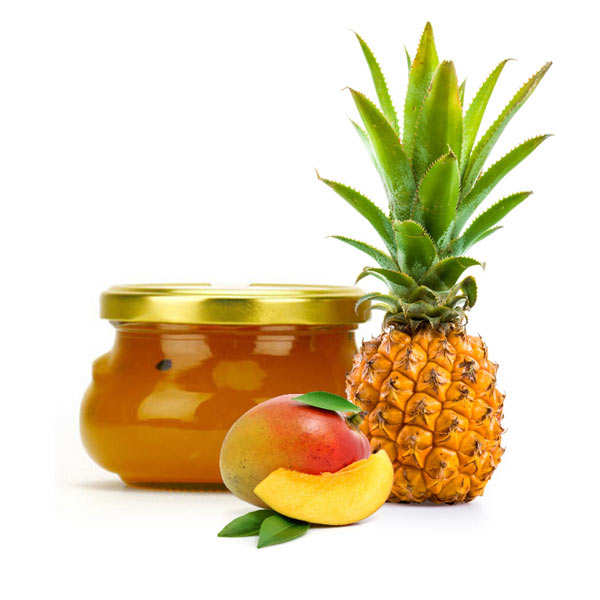 Confiture ananas, mangue et fruit de la passion