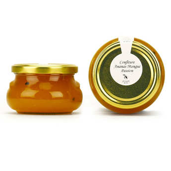 Artisan du fruit - Confiture ananas, mangue et fruit de la passion