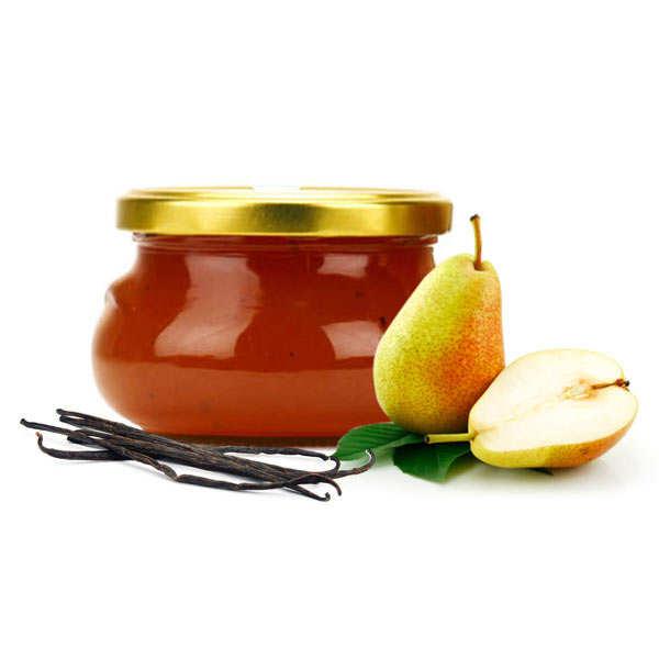 Confiture poire, vanille et caramel
