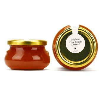 Artisan du fruit - Confiture poire, vanille et caramel