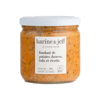 Karine & Jeff - Fondant de patates douces, tofu et ricotta bio