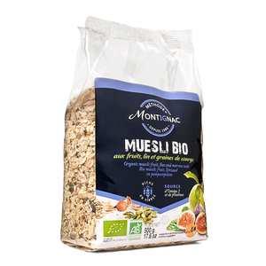Michel Montignac - Muesli bio Montignac (céréales, fruits, graines de lin et courges)