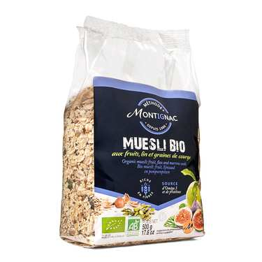 Muesli fruit, flax and marrow seeds - Montignac