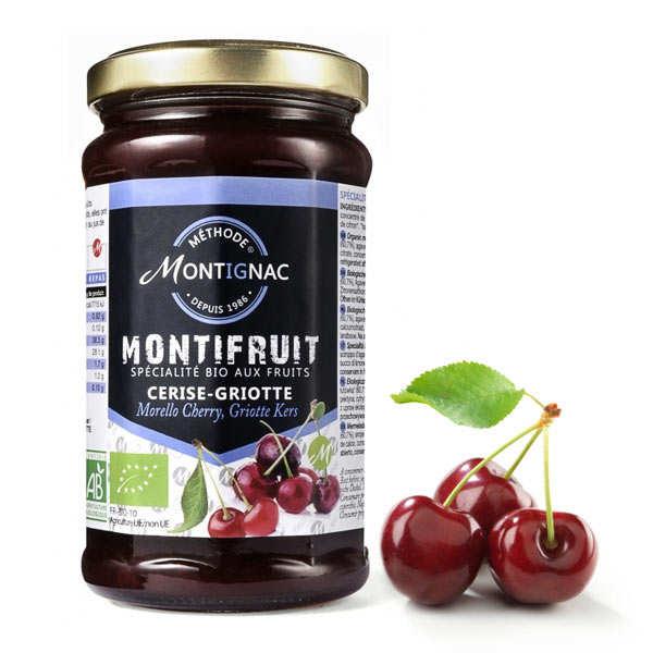 Organic morello cherry jam - Michel Montignac