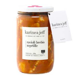 Karine & Jeff - Organic Sheep's Cheese And Blueberry Ravioli