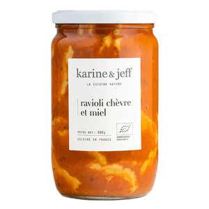 Karine & Jeff - Organic Goat's Cheese And Honey Ravioli