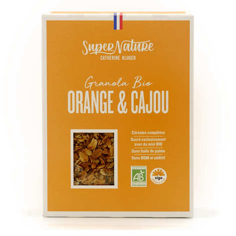 Granola Catherine Kluger - Granola à l'orange et à la noix de cajou bio