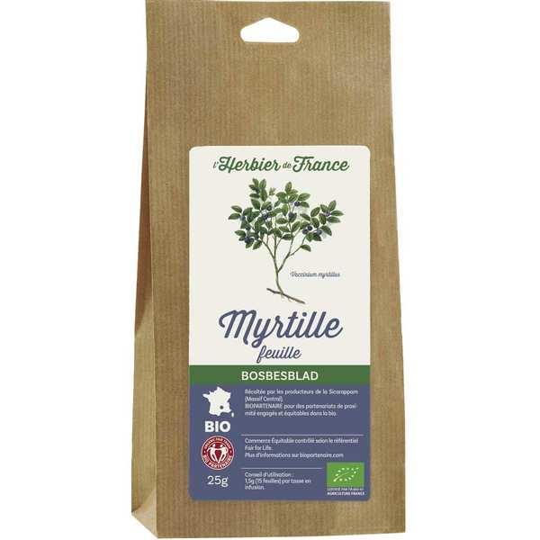 Infusion de myrtille en feuilles bio