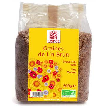 Brown organic linen seeds
