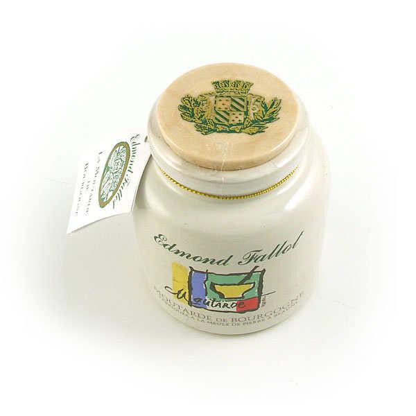 Moutarde de Bourgogne en pot de grès décoré