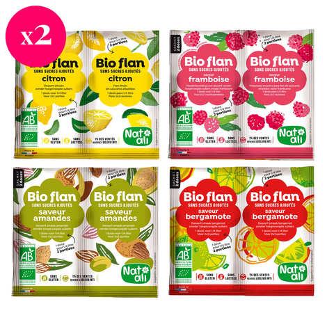 Nat-Ali - Organic fruit flan mix discovery offer