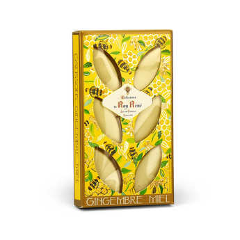 Le Roy René - French Calissons d'Aix - Decorated Case Ginger Honey
