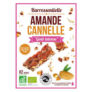 Aromandise - Barre aux amandes à l'huile essentielle de cannelle bio