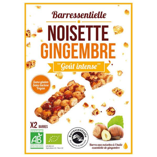 Barre aux noisettes à l'huile essentielle de gingembre bio