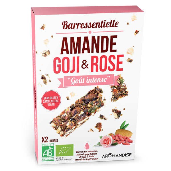 Organic Almond, Goji, Rose Bar With Essential Oil Of Cinnamon