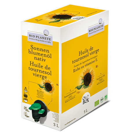 BioPlanète - Organic Virgin Sunflower Oil - BiB
