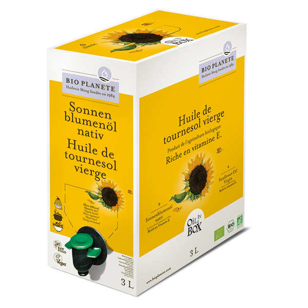 Organic Virgin Sunflower Oil - BiB