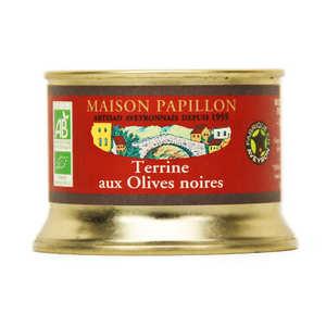 Maison Papillon - Terrine aux olives noires bio