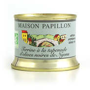 Maison Papillon - Terrine à la tapenade d'olives noires de Nyons bio