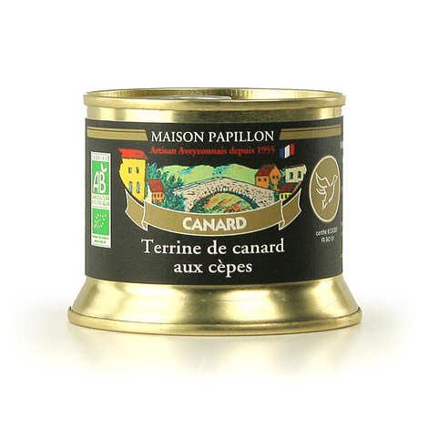 Maison Papillon - Terrine de canard aux cèpes bio